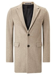 Scotch And Soda Classic Long Wool Coat Sand Melange