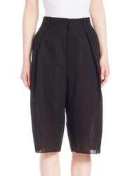 Ms. Min Cropped Loose Fit Pants Black