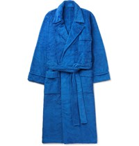 Anderson And Sheppard Cotton Terry Robe Blue