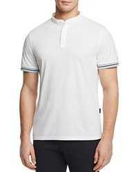 Ag Green Label Haskett Performance Banded Collar Regular Fit Polo Shirt Bright White
