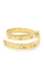 Monserat De Lucca Measuring Tape Bracelet Gold