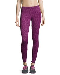 The Balance Collection Flat Waist Space Dye Sport Leggings Fuchsia