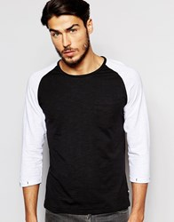 Produkt Contrast Raglan 3 4 Length Sleeve Top Blackwhite