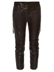 Haider Ackermann Miza Leather Skinny Trousers Black