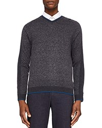 Ted Baker Neavee Sporty V Neck Sweater Charcoal