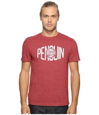 Original Penguin Vintage Gym Short Sleeve Athletic Warped Type Tee Pomegranate Men's T Shirt Pink