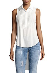 Candc California Textured Hi Lo Blouse White