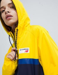 New Balance Colourblock Windbreaker Jacket In Yellow