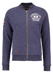 Superdry Tracksuit Top Flint Navy Marl Blue Grey