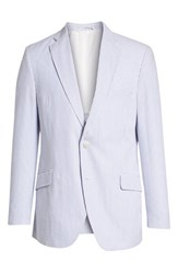 Kroon Jack Aim Classic Fit Seersucker Sport Coat Blue And White