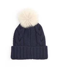 Woolrich Serenity Cable Knit Wool Beanie Hat