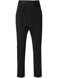 Alexandre Plokhov Asymmetric Zip Trousers Black