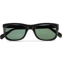 Moscot Kelev Square Frame Acetate Sunglasses Black