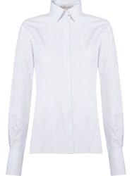Giuliana Romanno Stripe Panel Shirt White