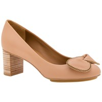 See By Chloe Clara Bow Block Heeled Court Shoes Pink