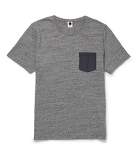 Nn.07 Shell Pocket Cotton Jersey T Shirt Gray