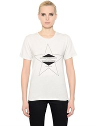 Saint Laurent Star Printed Cotton Jersey T Shirt