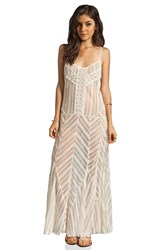 Free People Meadows Of Lace Slip Maxi Dress Cream