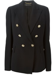 Versace Double Breasted Blazer Black