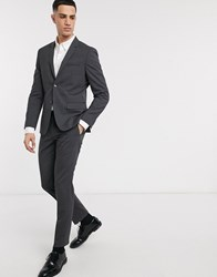 Calvin Klein Pittsburgh Stretch Wool Suit Trousers Grey