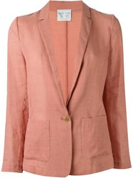 Forte Forte Single Breasted Lightweight Blazer Pink And Purple