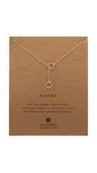Dogeared Karma Double Circle Adjustable Lariat Necklace Gold
