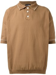 Raf Simons Oversized Polo Shirt Brown
