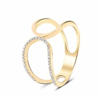 Cosanuova Prater Diamond Ring 18K Yellow Gold