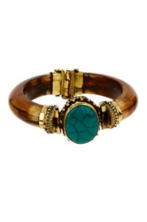 Bansri Kareena Agate Wooden Bangle Bracelet No Color