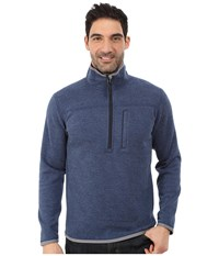 Royal Robbins Blue Ridge 1 2 Zip Lunar Blue Men's Long Sleeve Pullover
