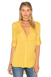 Bella Dahl Shirt Tail Button Down Yellow