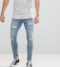 Brooklyn Supply Co. Co Muscle Fit Jeans Tint Wash Rip And Repair Bl1 Blue 1