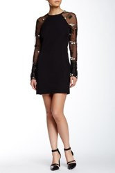 Endless Rose Long Raglan Sleeve Dress Black