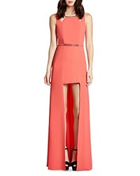 Halston Heritage High Low Crepe Gown Coral