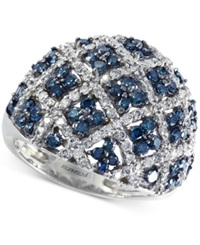 Effy Collection Effy Blue And White Diamond Dome Ring 2 Ct. T.W. In 14K White Gold