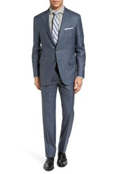 Hickey Freeman Men's Beacon Classic Fit Plaid Wool And Silk Suit