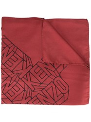 'Flying Kenzo' Scarf Red