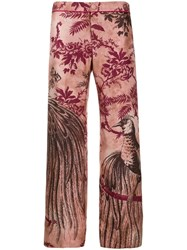 F.R.S For Restless Sleepers Jacquard Print Trousers Pink