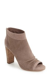 Vince Camuto Women's Cosima Open Toe Bootie Stone Taupe Suede