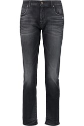 7 For All Mankind Relaxed Skinny Low Rise Slim Leg Jeans Black