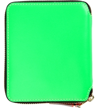 Comme Des Garcons Fluoro Medium Leather Wallet Green