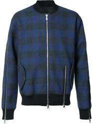 Mostly Heard Rarely Seen Plaid Bomber Jacket Black