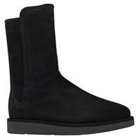 Ugg Abree Short Flat Calf Boots Black Suede
