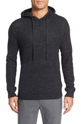 Men's Vince 'Sporty Jasper' Thermal Pullover Hoodie Heather Black