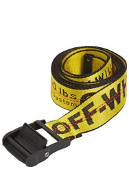 Off White 35Mm Nylon Industrial Belt Yellow