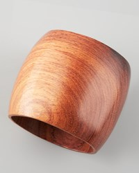Nest Jewelry Wooden Bangle Large Brown