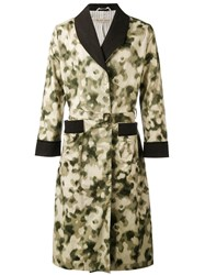 Emiliano Rinaldi Camouflage Midi Coat Men Cotton Polyurethane 46 Green