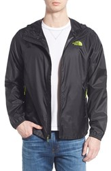 The North Face Men's 'Cyclone' Windwall Packable Raincoat Tnf Black Macaw Green
