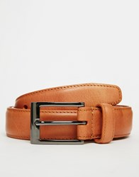 Esprit Stitched Leather Belt Black