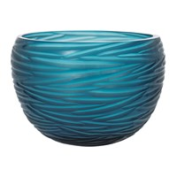 Amara Rope Effect Glass Bowl Midnight Blue